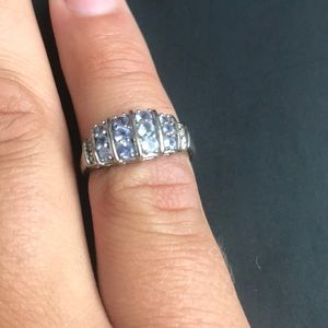 Beautiful Aquamarine and 10k white gold ring